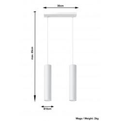 Pakabinamas šviestuvas LAGOS 2 baltas - 4 - 58,70€