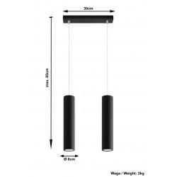 Pakabinamas šviestuvas LAGOS 2 juodas - 4 - 58,70€