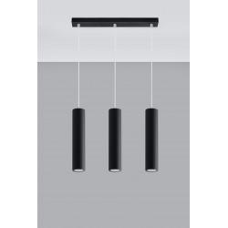 Pakabinamas šviestuvas LAGOS 3 juodas - 2 - 81,26€