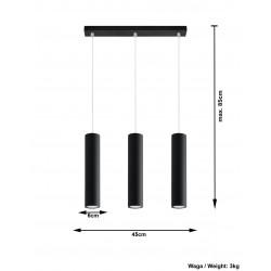 Pakabinamas šviestuvas LAGOS 3 juodas - 4 - 81,26€
