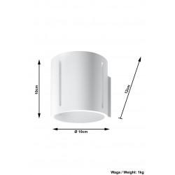 Sieninis šviestuvas INEZ baltas - 5 - 28,64€