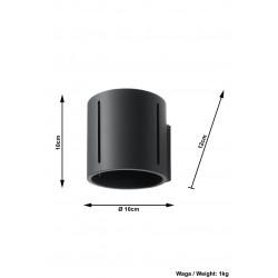 Sieninis šviestuvas INEZ juodas - 5 - 28,64€