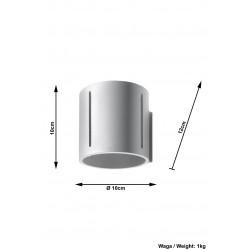 Sieninis šviestuvas INEZ pilkas - 5 - 28,64€