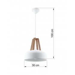 Pakabinamas šviestuvas CASCO baltas - 4 - 54,50€