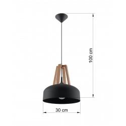 Pakabinamas šviestuvas CASCO juodas - 4 - 54,50€