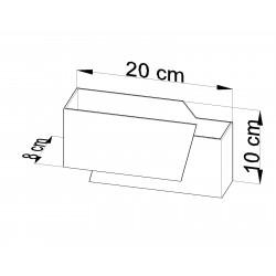Sieninis šviestuvas PIEGARE - 4 - 28,54€
