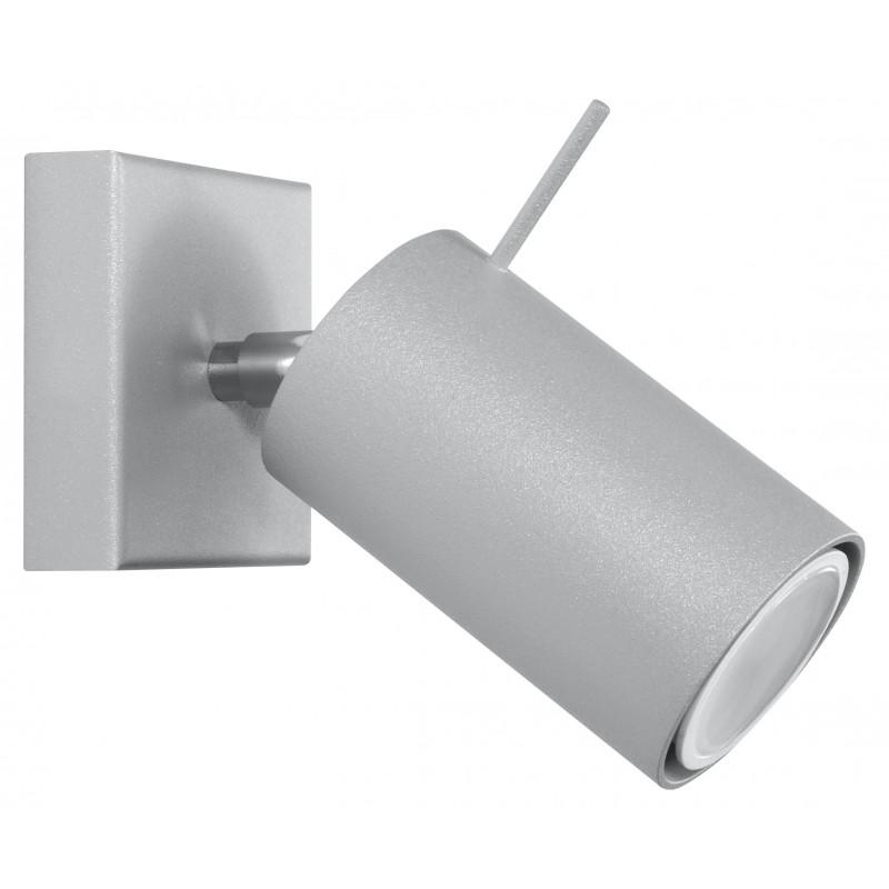 Sieninis šviestuvas RING 1 pilkas - 1 - 19,05€