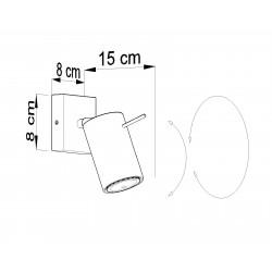 Sieninis šviestuvas RING 1 pilkas - 4 - 19,05€