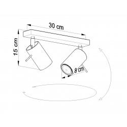 Lubinis šviestuvas RING 2 pilkas - 4 - 34,04€