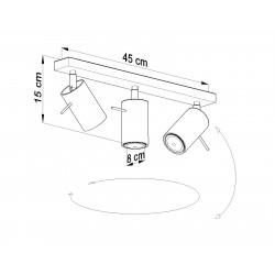 Lubinis šviestuvas RING 3 pilkas - 4 - 47,60€