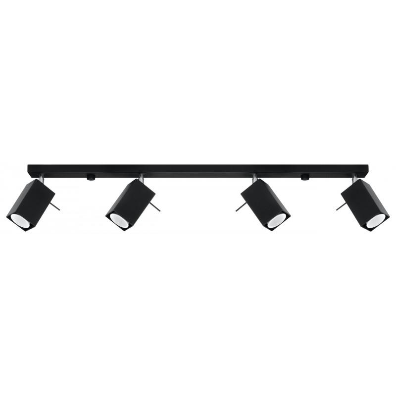 Lubinis šviestuvas MERIDA 4L juodas - 1 - 86,68€
