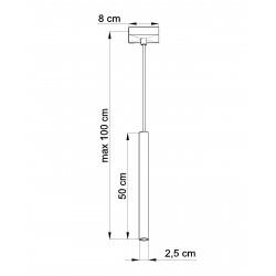Pakabinamas šviestuvas PASTELO 1 baltas - 4 - 24,05€