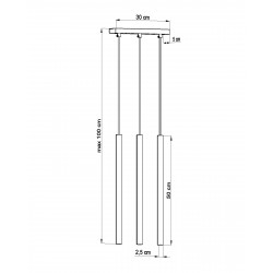 Pakabinamas šviestuvas PASTELO 3 juodas - 4 - 59,24€