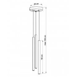 Pakabinamas šviestuvas PASTELO 3P juodas - 4 - 58,44€