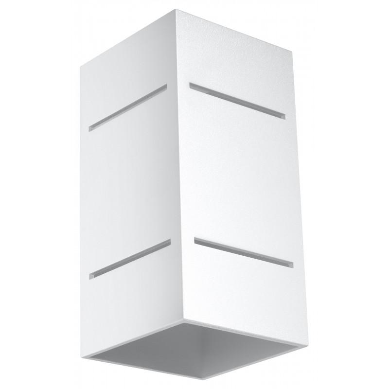Sieninis šviestuvas BLOCCO baltas - 1 - 44,52€