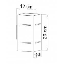 Sieninis šviestuvas BLOCCO baltas - 4 - 44,52€