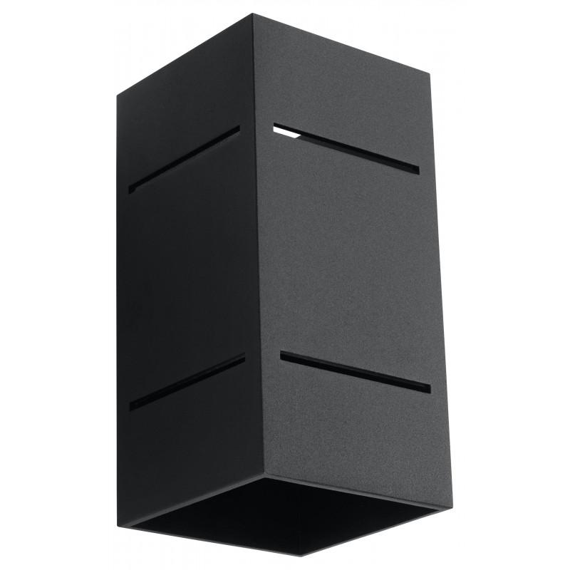 Sieninis šviestuvas BLOCCO juodas - 1 - 44,52€