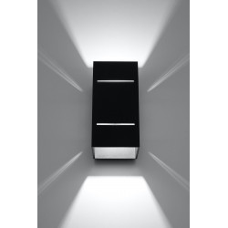 Sieninis šviestuvas BLOCCO juodas - 3 - 44,52€