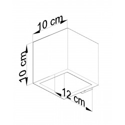 Sieninis šviestuvas QUAD beton - 4 - 25,49€