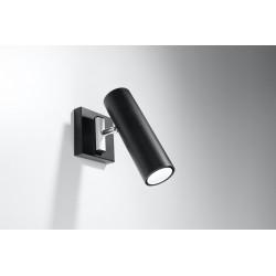 Sieninis šviestuvas DIREZIONE juodas - 2 - 30,10€