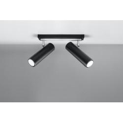 Lubinis šviestuvas DIREZIONE 2 juodas - 2 - 53,36€