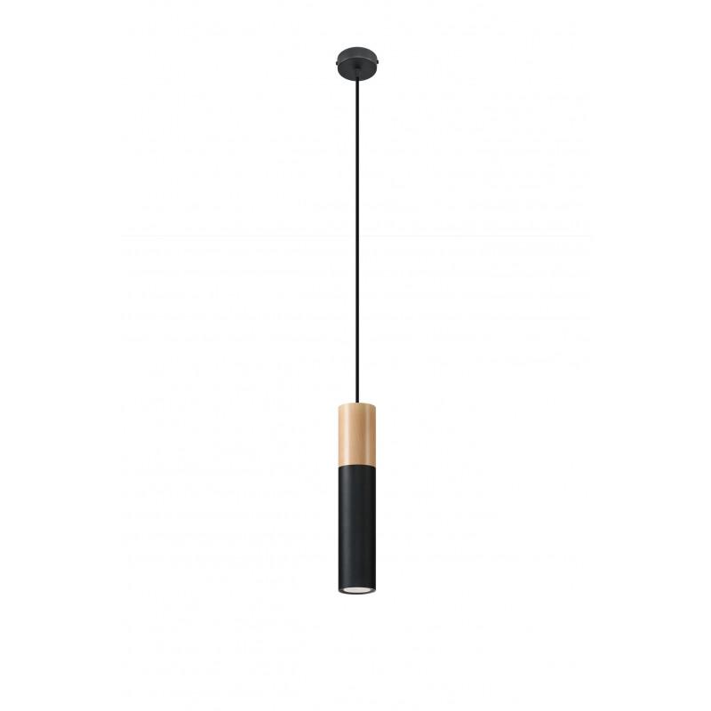 Pakabinamas šviestuvas PABLO juodas - 1 - 34,88€