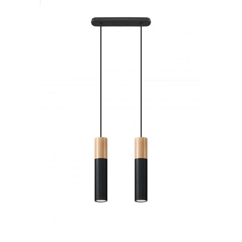 Pakabinamas šviestuvas PABLO 2 juodas - 1 - 64,76€