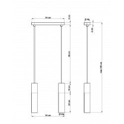 Pakabinamas šviestuvas PABLO 2 juodas - 2 - 64,76€