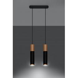 Pakabinamas šviestuvas PABLO 2 juodas - 3 - 64,76€