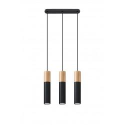 Pakabinamas šviestuvas PABLO 3 juodas - 1 - 93,76€