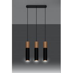 Pakabinamas šviestuvas PABLO 3 juodas - 3 - 93,76€