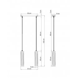Pakabinamas šviestuvas LINO 2 - 2 - 59,52€