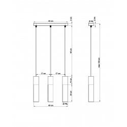 Pakabinamas šviestuvas BORGIO 3 baltas - 2 - 104,62€