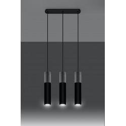 Pakabinamas šviestuvas BORGIO 3 juodas - 3 - 104,62€