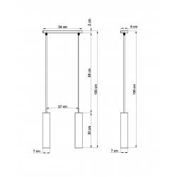 Pakabinamas šviestuvas LUVO 2 - 2 - 67,92€