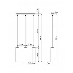 Pakabinamas šviestuvas LUVO 3 - 2 - 98,80€