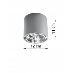 Plafonas TIUBE pilkas - 3 - 25,89€