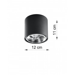 Plafonas TIUBE juodas - 3 - 25,89€