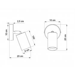 Sieninis šviestuvas BERGE - 4 - 20,92€