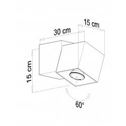 Plafonas OPTIK NERO 2 - 4 - 45,83€
