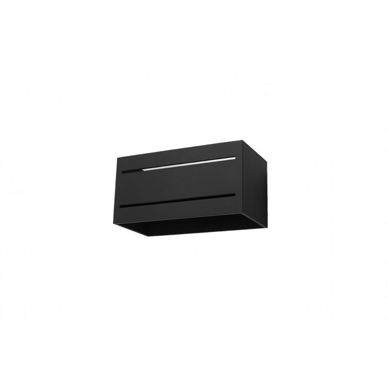Sieninis šviestuvas LOBO MAXI 2 juodas - 1 - 45,83€