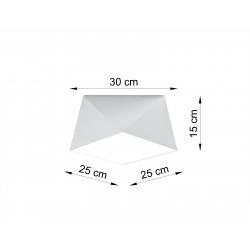 Plafonas HEXA 25 baltas - 3 - 46,81€