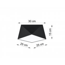 Plafonas HEXA 25 juodas - 3 - 46,81€