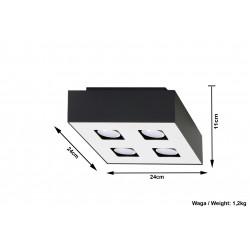 Plafonas MONO 4 juodas - 5 - 47,86€