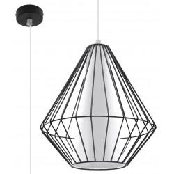 Pakabinamas šviestuvas DEMI juodas - 1 - 49,46€