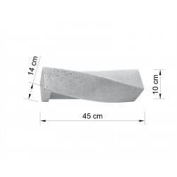 Sieninis šviestuvas SIGMA betono - 2 - 49,82€