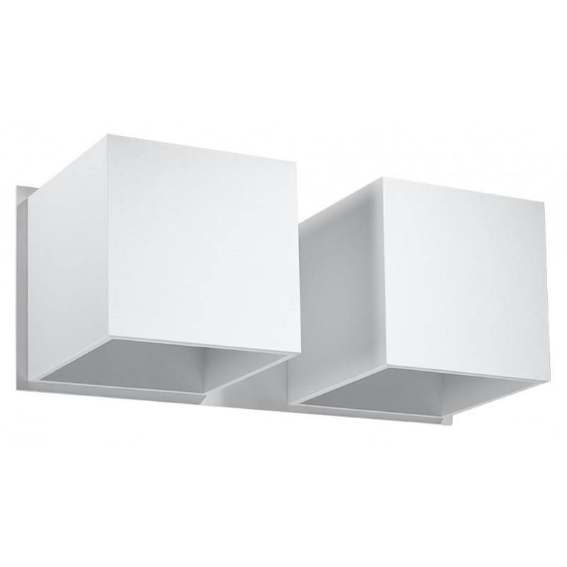 Sieninis šviestuvas QUAD 2 baltas - 1 - 49,82€
