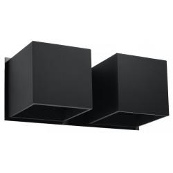Sieninis šviestuvas QUAD 2 juodas - 1 - 49,82€