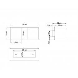 Sieninis šviestuvas QUAD 2 juodas - 3 - 49,82€