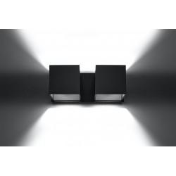 Sieninis šviestuvas QUAD 2 juodas - 4 - 49,82€
